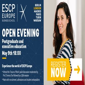 "Open Evening at ESCP Europe ""The Future of Work"" in London - May 2019"