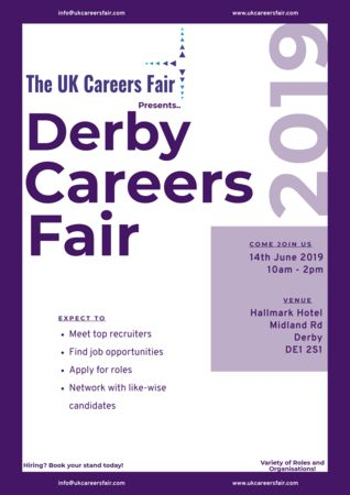 The UK Careers Fair in Derby - 14th June