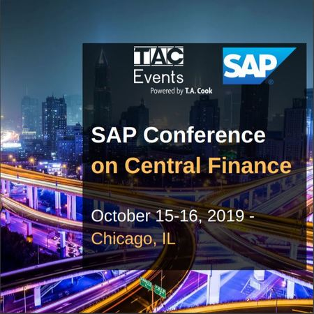 SAP Conference on Central Finance, October 2019, Chicago, IL