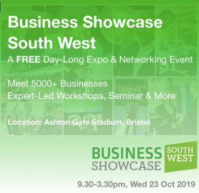 Business Showcase South West, Free Exhibition, Bristol 23 October 2019