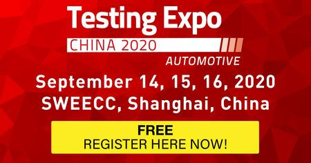 Automotive Testing Expo China 2020 - September 14-16 - Shanghai, China