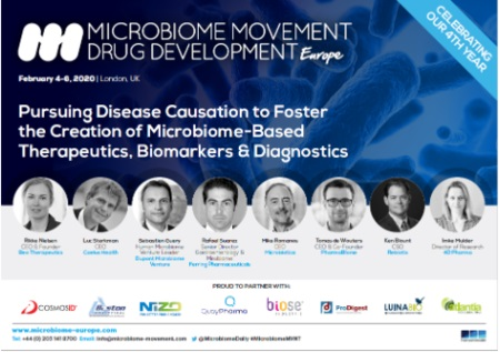4th Microbiome Movement - Drug Development Summit Europe 2020 - London, UK