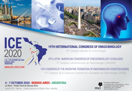 ICE 2020 / 19th International Congress of Endocrinology / 4-7 October 2020