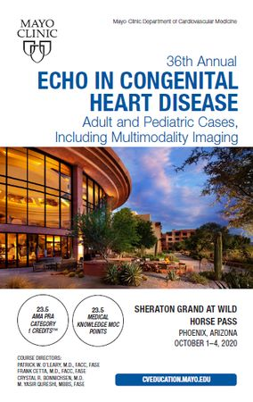 Echo in Congenital Heart Disease: Adult and Pediatric Cases
