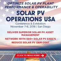 4th Solar PV Operations USA 2018 Conference and Exhibition