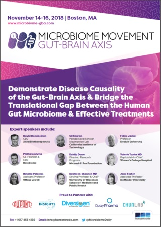 2nd Microbiome Movement – Gut-Brain Axis 2018