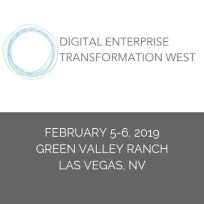 DIgital Enterprise Transformation West Assembly in Las Vegas - Feb. 2019