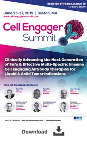Cell Engager Summit, June 25-27, 2019, Boston, MA