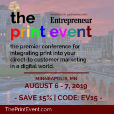 The Print Event ○ Minneapolis, MN ○ August 6 - 7, 2019