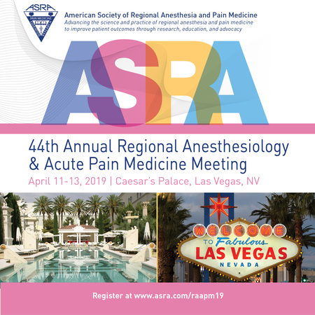 44th Annual Regional Anesthesiology and Acute Pain Medicine Meeting
