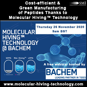 Cost-efficient and Green Manufacturing of Peptides thanks to Molecular Hiving™ Technology