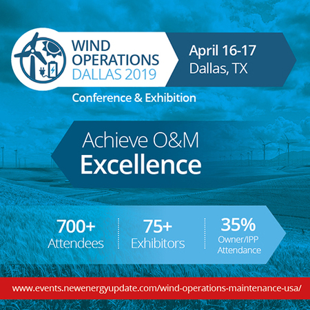 Wind Operations Dallas 2019 (April 16-17 TX) O&M, Asset Management, Storage