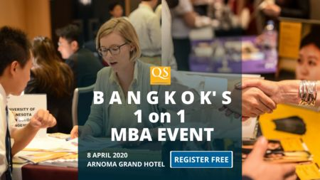QS Bangkok MBA Event Free Entry - 1 on 1 MBA Meeting and Networking