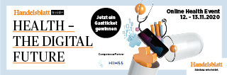 Handelsblatt HEALTH-THE DIGITAL FUTURE - Online Event including live meetings, 12 and 13 november 20