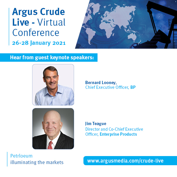 Argus Crude Live - Virtual Conference | Online Conference and Networking Event | 26-28 January 2021