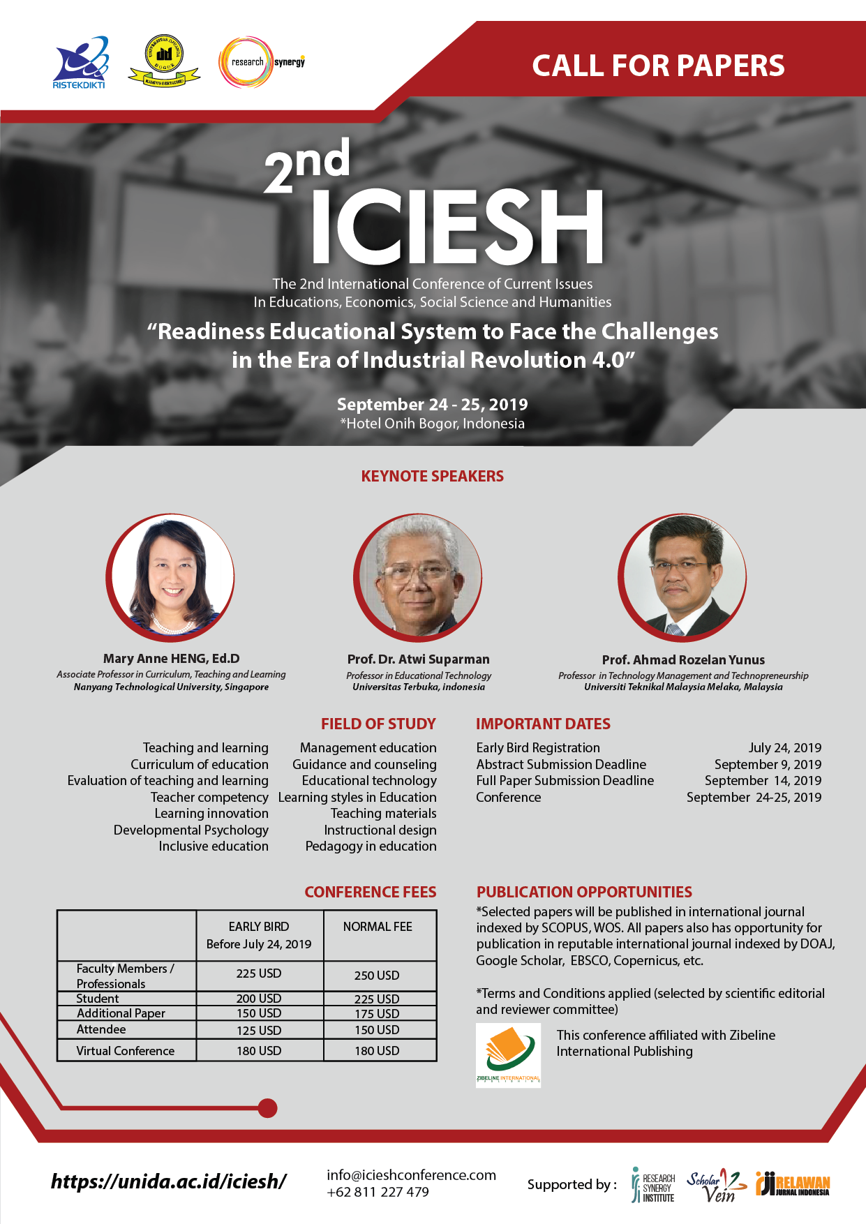 2nd International Conference of Current Issues in Educations, Economics, Social Science and Humanities (2nd ICIESH)