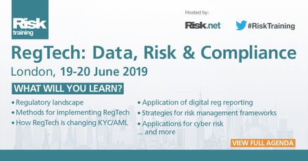 RegTech: Data, Risk & Compliance, London, 19 - 20 June 2019