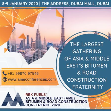 AME Bitumen and Road Construction Conference 2020, 8-9 January 2020, Dubai