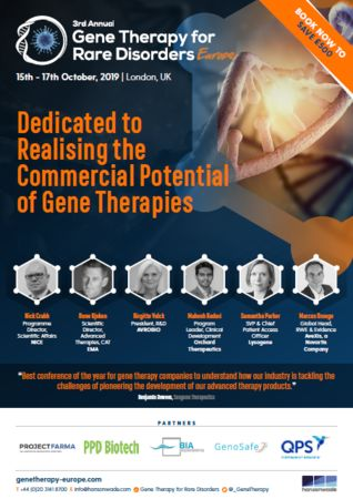 Gene Therapy for Rare Disorders Europe Summit