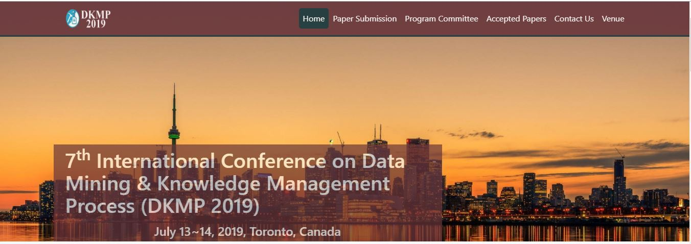 7th Int. Conf. on Data Mining & Knowledge Management Process