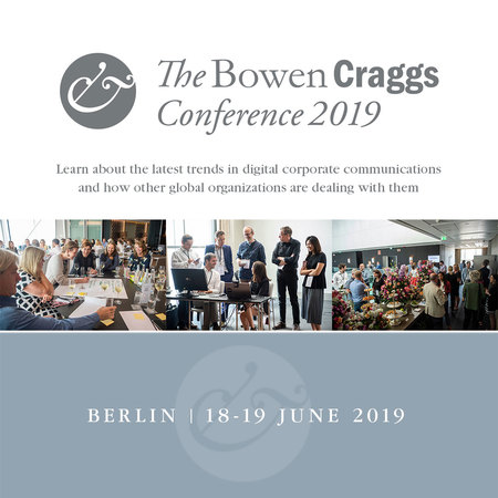 The Bowen Craggs Conference - Berlin 2019