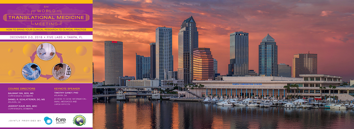 5th World Translational Medicine Meeting, Tampa 2018